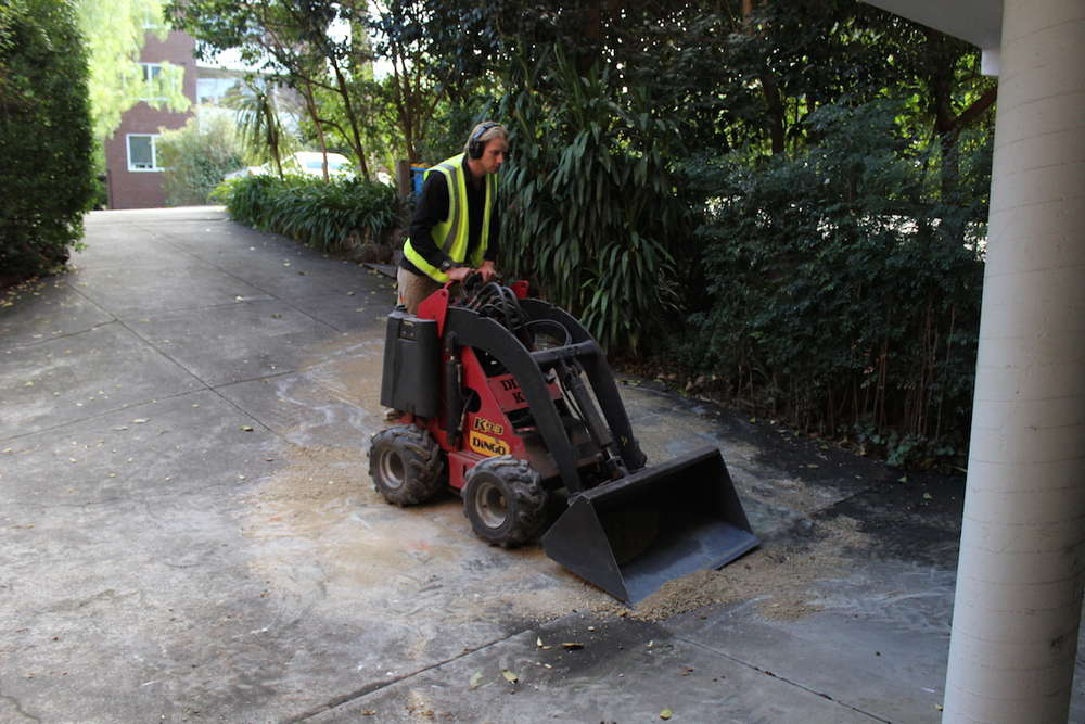 Mini digger for hire from DVH Maintenance